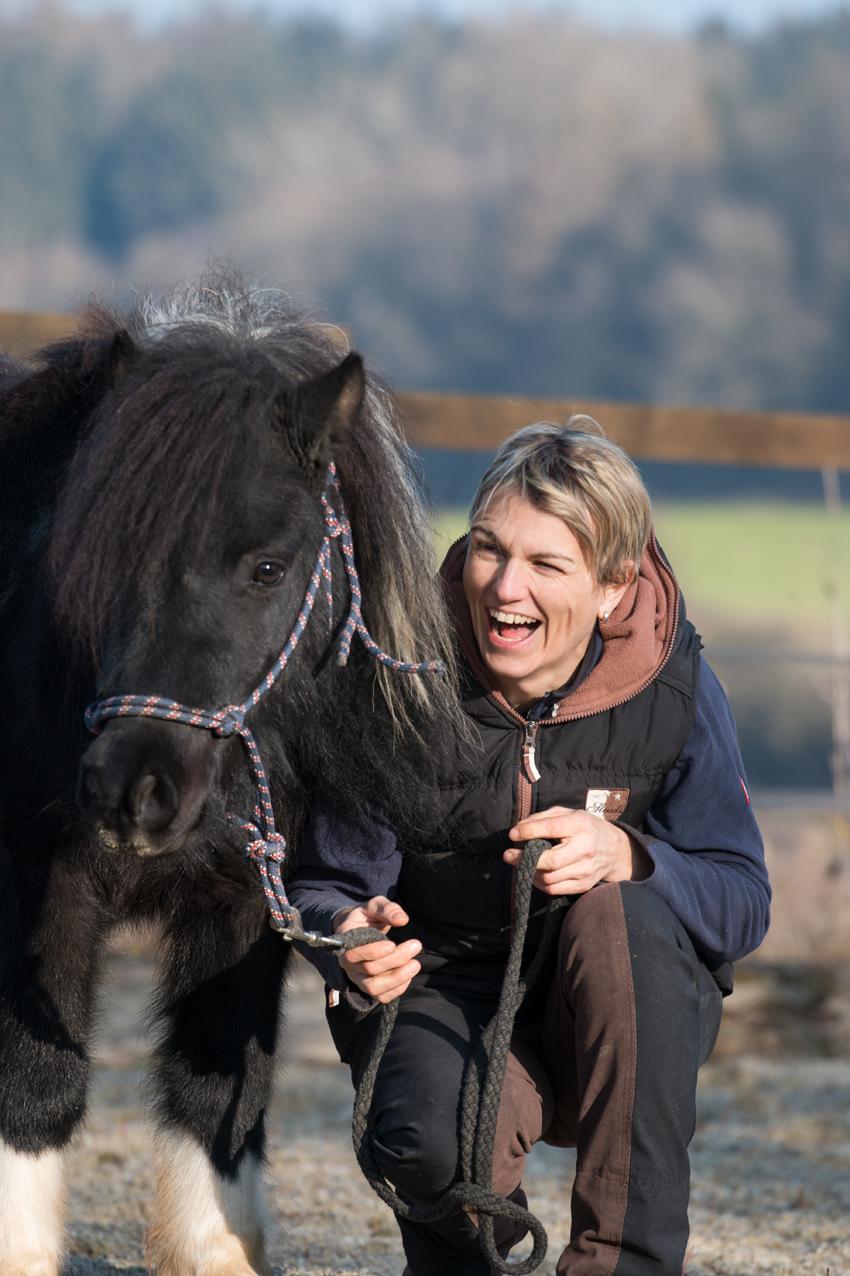 Pferdetrainerin Katja Heß